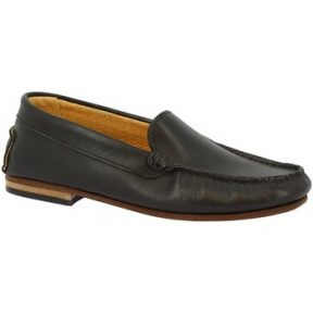 Μοκασσίνια Leonardo Shoes 500 VITELLO NERO F. DO CUOIO
