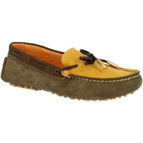 Μοκασσίνια Leonardo Shoes 502 MAIS/VERDE/T. M