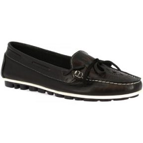 Μοκασσίνια Leonardo Shoes 2827 VITELLO NERO