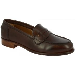 Μοκασσίνια Leonardo Shoes COL01_ PE VITELLO MORO