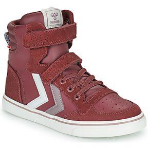 Ψηλά Sneakers Hummel SLIMMER STADIL JR ΣΤΕΛΕΧΟΣ: Δέρμα & ΕΠΕΝΔΥΣΗ: Ύφασμα & ΕΣ. ΣΟΛΑ: Ύφασμα & ΕΞ. ΣΟΛΑ: Καουτσούκ